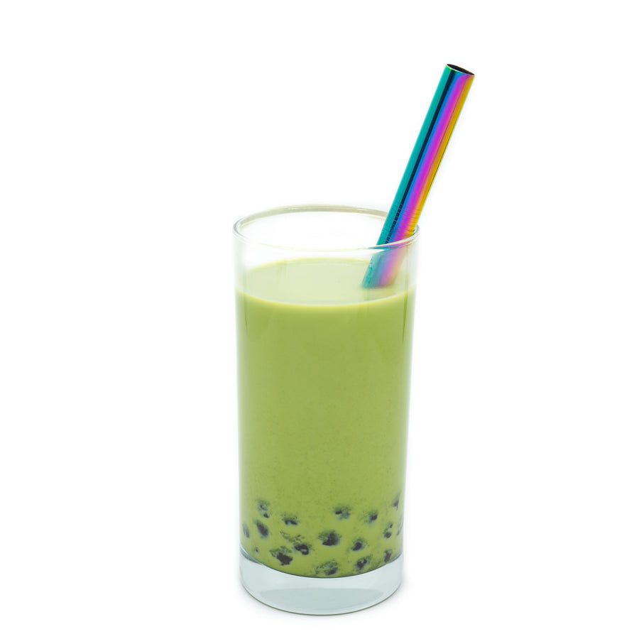 Wholesale Boba Rainbow Metal Straw Gift Set