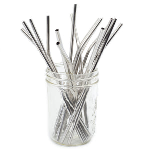 Single - Curved Metal Straws