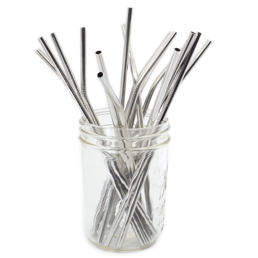 Single Bulk - Straight Metal Straws