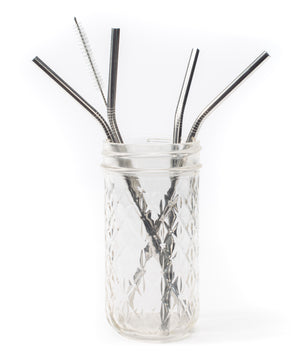 Curved Metal Straws Gift Set