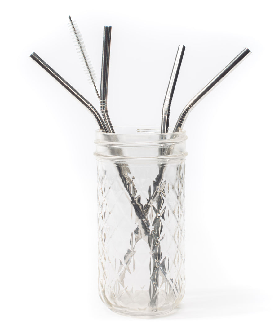 Pack of 3 | Curved Single Straw Gift Set