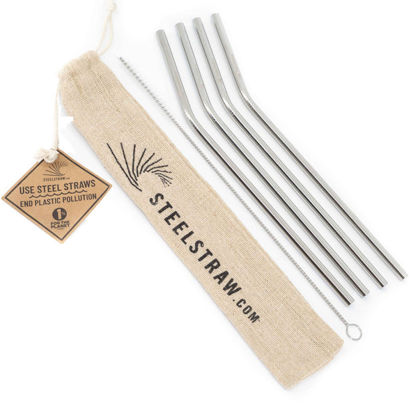 Curved Metal Straw Gift Sets - 1 unit