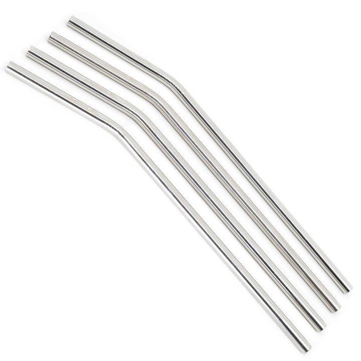 Bulk - Long Curved Metal Straws