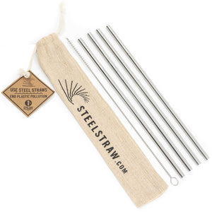 Wholesale Straight Metal Straw Gift Set