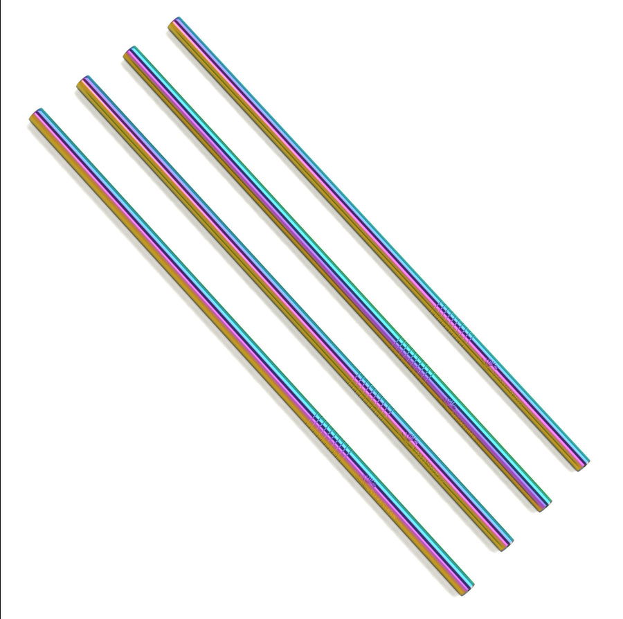 Bulk - Rainbow Straight Metal Straws