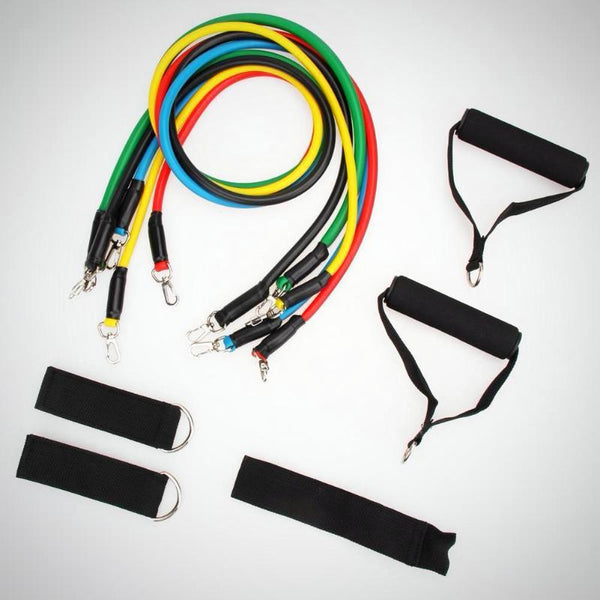 11 pcs Resistance Band Set with Ankle Strap, Door Anchor and Resistance Band