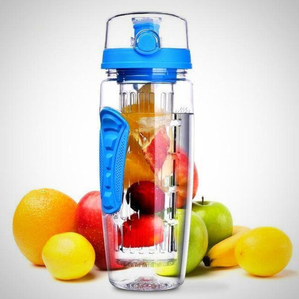 Leak Proof Fruit Infuser Water Bottle, Large 32 Oz.
