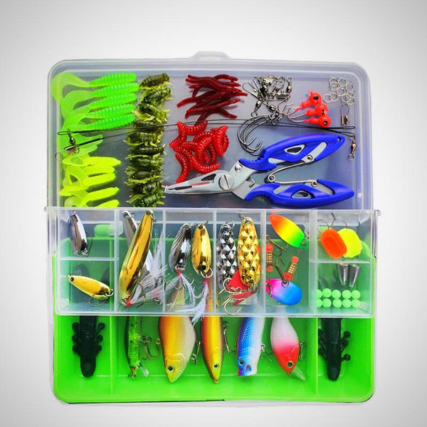 100 Pcs/Box Lure Fishing Accessories Set