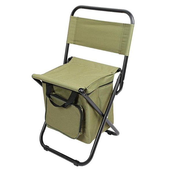 Folding Backrest Chair Portable Ice Chest Bag