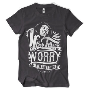Bob tells me life inspiration T shirt Print on American Apparel Men's Shirt