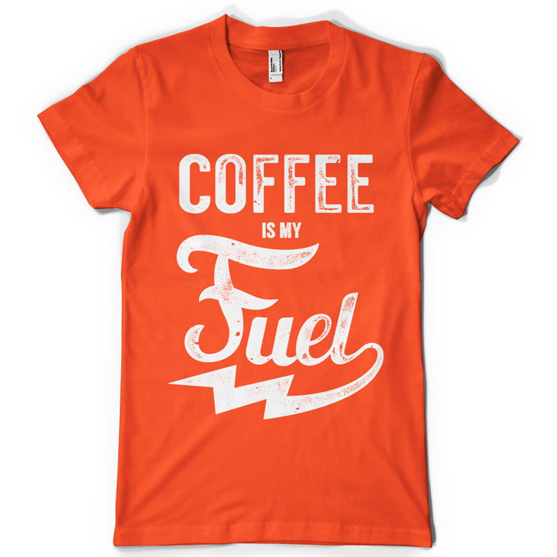 Coffee is my fuel life inspiration T shirt Print on American Apparel Men's Shirt