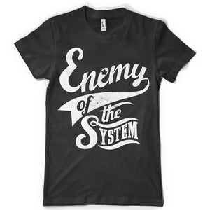 Enemy of the system life inspiration T shirt Print on American Apparel Men's Shirt