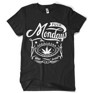 Mondays life inspiration T shirt Print on American Apparel Men's Shirt