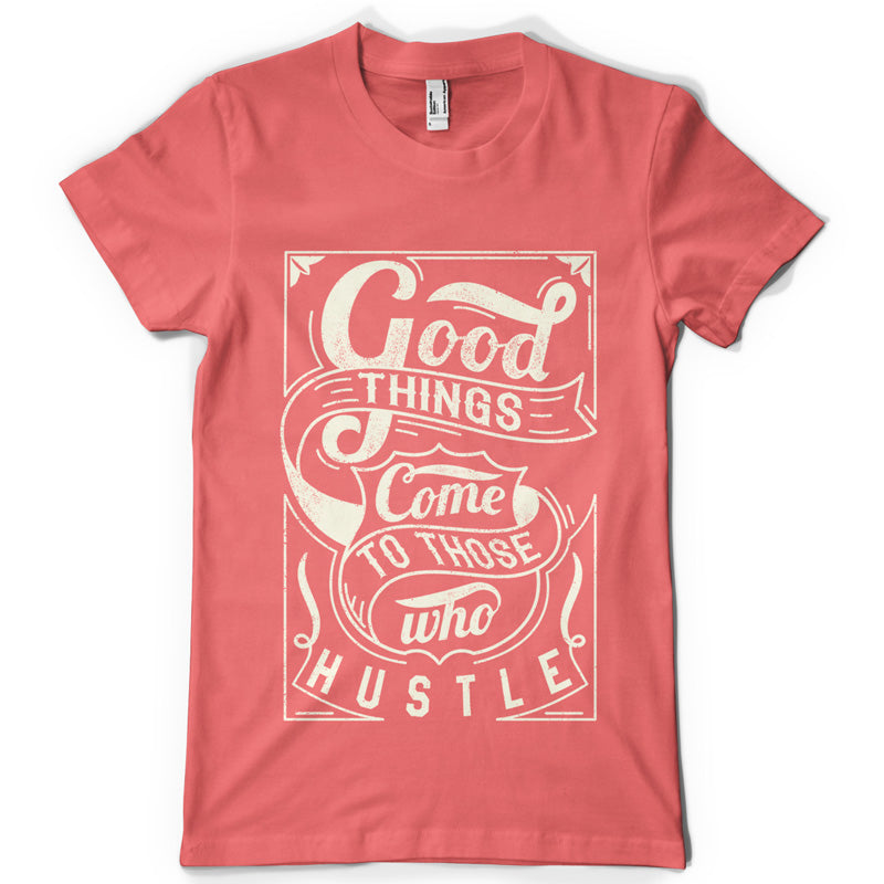 Hustle life inspiration T shirt Print on American Apparel Men's Shirt