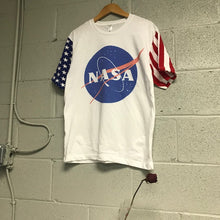 NASA Meatball USA Flag Sleeve T shirt