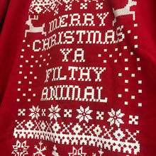 Merry Christmas YA Filthy Animal Sweatshirt Red