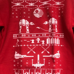 Star Wars Men's Ugly Christmas Sweatshirt Red