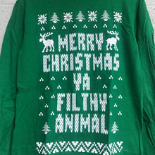 Merry Christmas YA Filthy Animal Long Sleeve Shirt Green