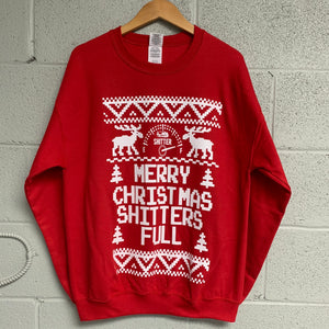 Merry Christmas Shitter's Full Ugly Christmas Sweatshirt