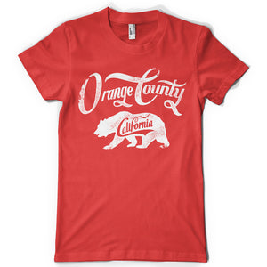 Orange County life inspiration T shirt Print on American Apparel Men's Shirt