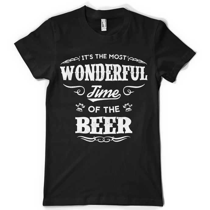 Wonderful time of the beer life inspiration T shirt Print on American Apparel Men's Shirt