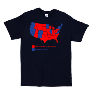 Dumbfuckistan Map Men's Navy T shirt