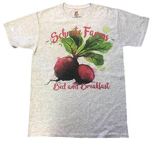 Schrute Beets Farms Bed and Breakfast The Office Funny Shirt Heather Ash Grey Men Shirt
