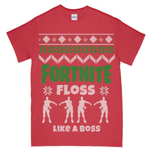 Fortnite Floss Like a Boss Ugly Christmas T shirt Adult size