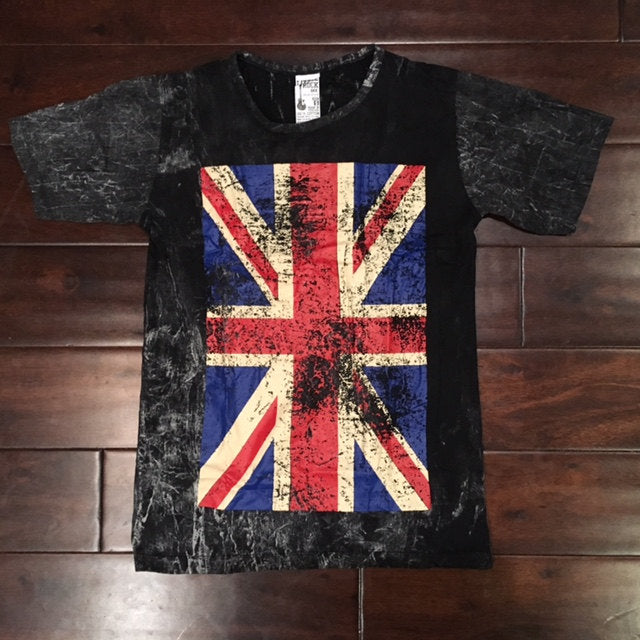 Vintage Stone Wash T shirt, UK Logo Print