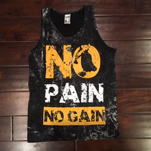 Vintage Stone Wash Tank Top, No Pain No Gain