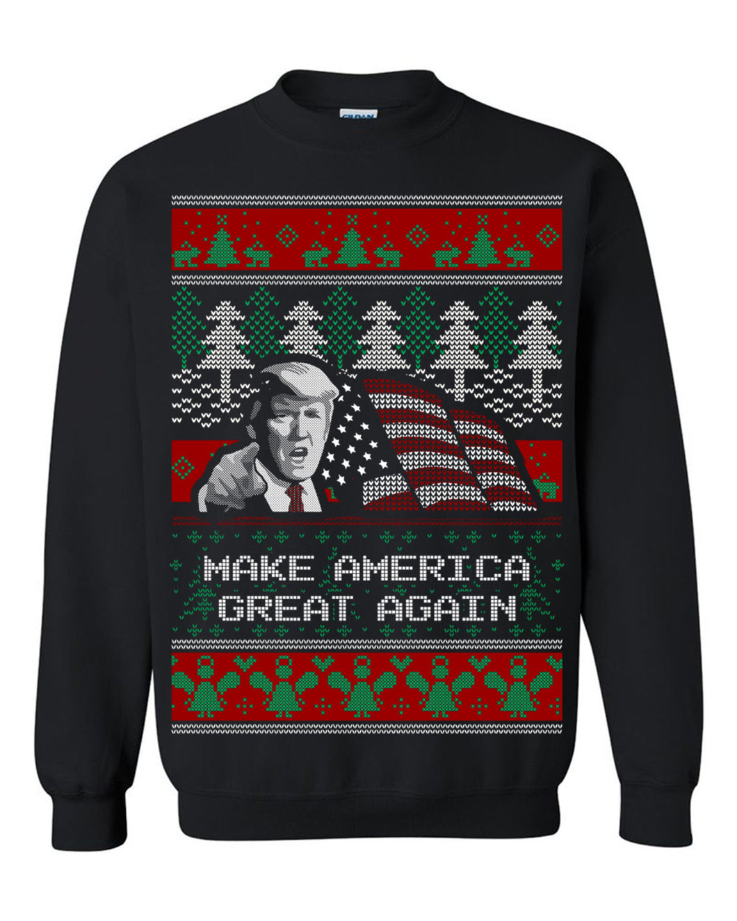 Donald Trump Make America Great Again Ugly Christmas Sweater Christmas Sweatshirt