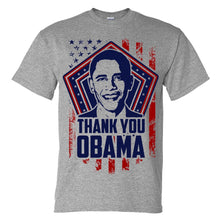 Thank you OBAMA T shirt Screen Printing on Sport Grey shirt NEW