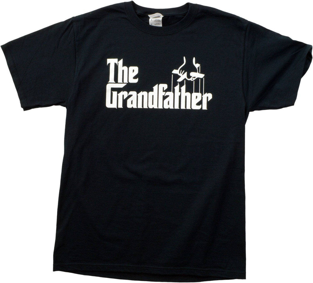 The Grandfather Funny Father's Day Grandpa Godfather Men T-shirt Tees Black