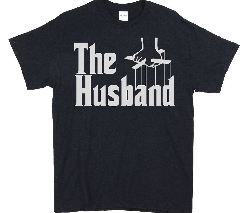 The Husband Funny Father's Day Godfather Men T-shirt Tees Black valentine's gift for husband valentine's Day Shirt