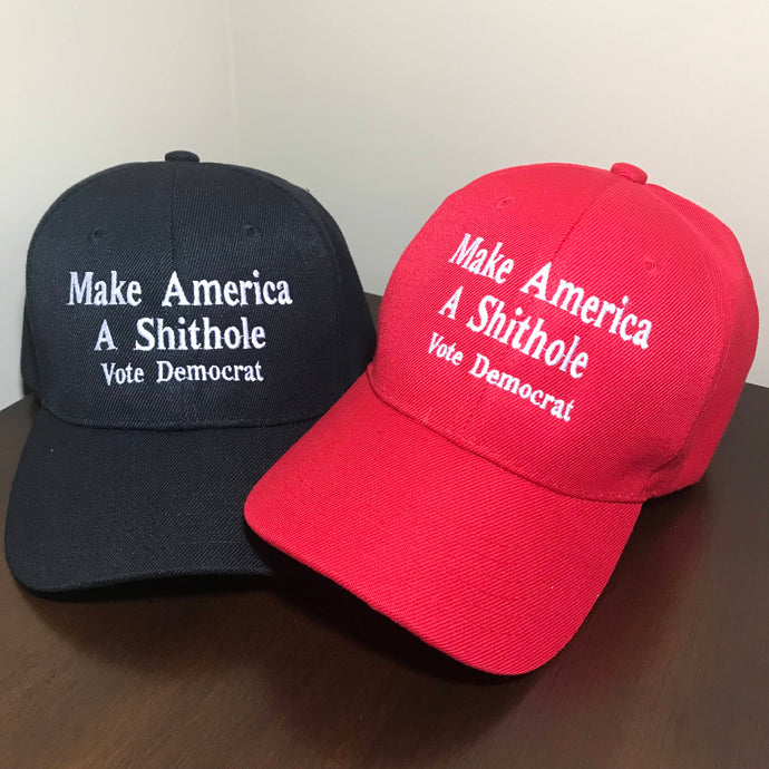 2-Packs Trump Hat Make America A Shithole Make America Great Again Trump Cap Hat