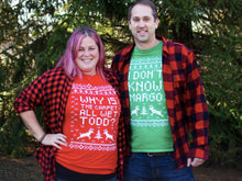 SET OF 2 Matching Shirts Why Is The Carpet All Wet Todd I Don't Know Margo Christmas Parties Holiday Shirt Unisex Short Sleeve Shirt