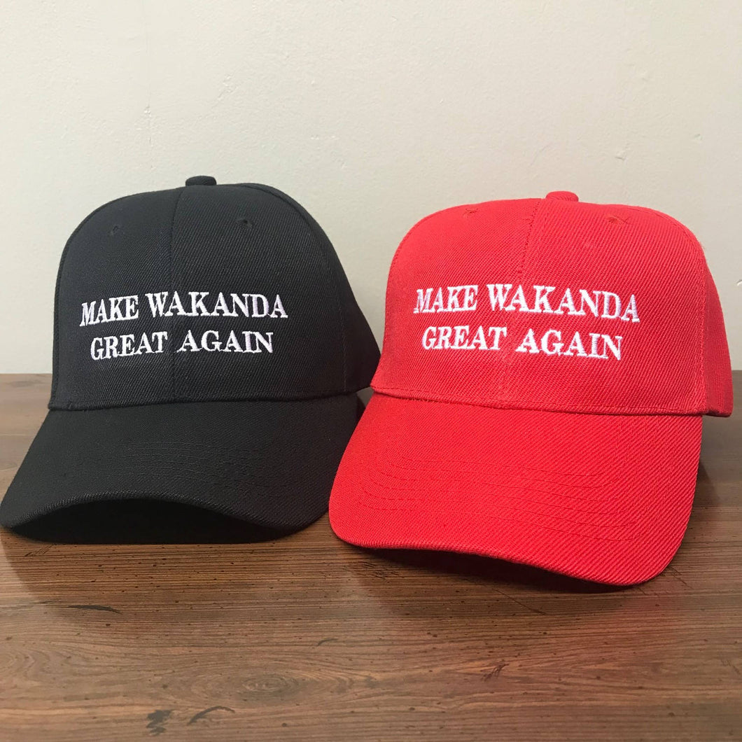 2-Packs Make Wakanda Great Again Wakanda Hat Wakanda Cap Black Panther Hat