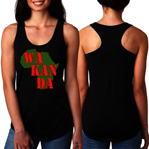 Black Panther Wakanda Women Black Racerback Tank