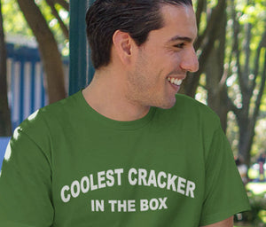Coolest Cracker in the Box T shirt Adult Size S-3XL