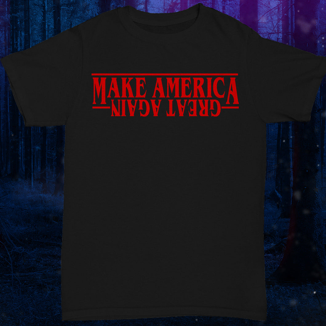 Donald Trump shirt Make America Great Again shirt The Upside Down Stranger Things Shirt  Tee Top The Upside Down T Shirt Tee Top - Eleven