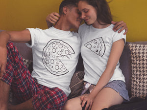 Set of 2 Couple t shirt couple tees pizza t shirt couple tshirts funny matching couple shirts  anniversary gift pizza t shirts pizza tee