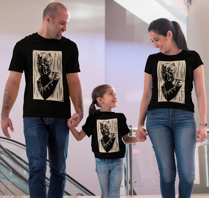 Black Panther Wakanda Men Women Kid Shirt Family matching T shirt