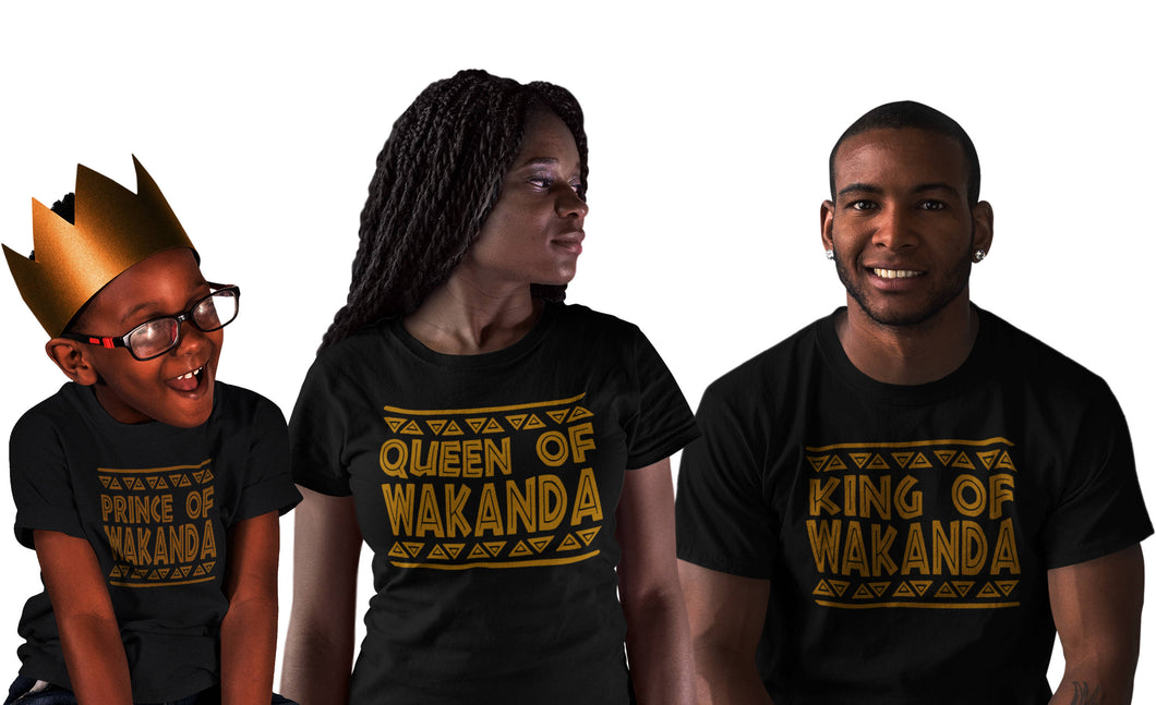King of Wakanda Queen of Wakanda Shirt T-Shirt wakanda Shirt , black panther Shirt Men Women Kid T shirt