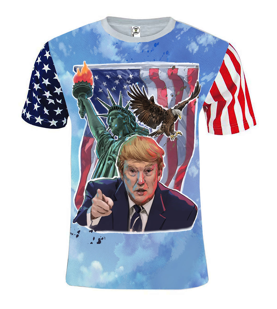 Donald Trump liberty Original Artwork print T shirt limited edition All over printing version