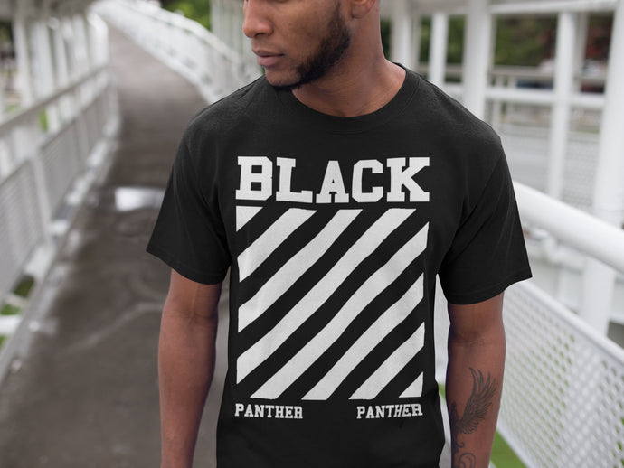 Black Panther Wakanda Off White Parody Street Wear Men T shirt