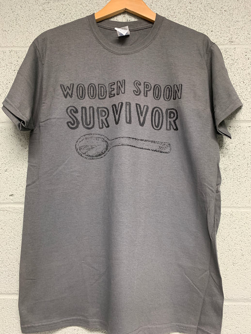 wooden spoon survivor shirt Charcoal Grey