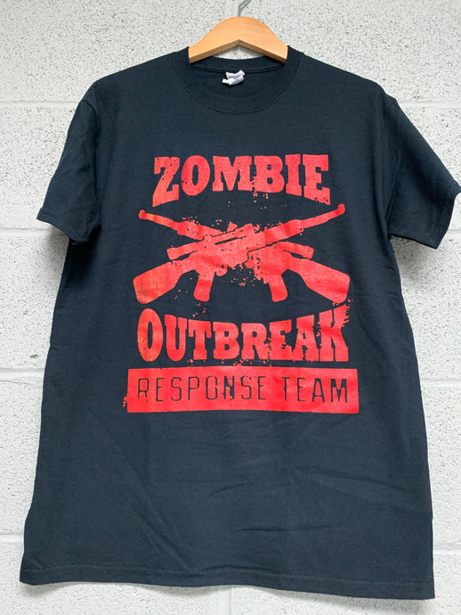 Zombie Outbreak Men Black T shirt