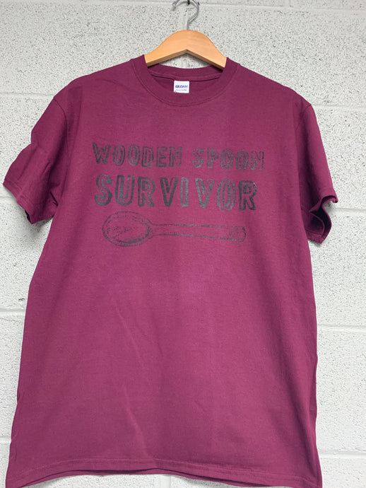 wooden spoon survivor shirt Maroon