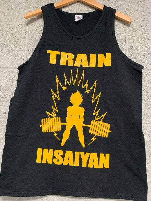 Train Insaiyan Dragon Ball men Black Tank Top