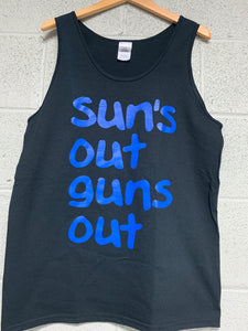 Sun's out guns out men black Tank top